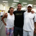 2012 Silver Medalist Hyleas Fountain, with Dr. Lyneil and Coach Lynn Smith